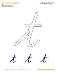 Afbeeldingsresultaat voor grafomotricidad letras t