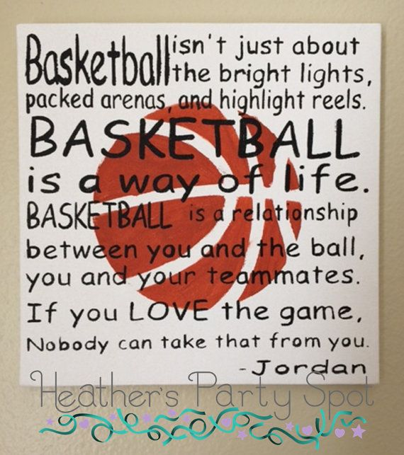 Michael Jordan Baskteball quote. Subway Art on a 10x10 canvas. This item is hand painted and is a great gift for the Basketball fan in your