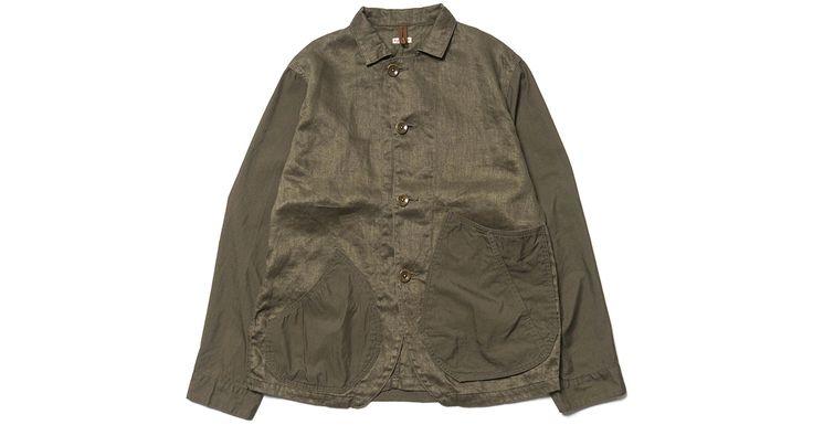 Kapital Linen Chino Cloth and Gabardine Ringoman Coverall Jacket - http://hddls.co/2q2c1Kg