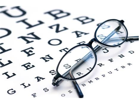 How Far Down Can You Read? - Did you know that the first #eye_chart was developed in the 1860s? Today's versions measure vision acuity up to 20/20, with some going as far as 20/5 for the bottom row of letters.