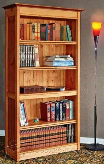 Office Bookcase Plans - Furniture Plans and Projects   WoodArchivist.com