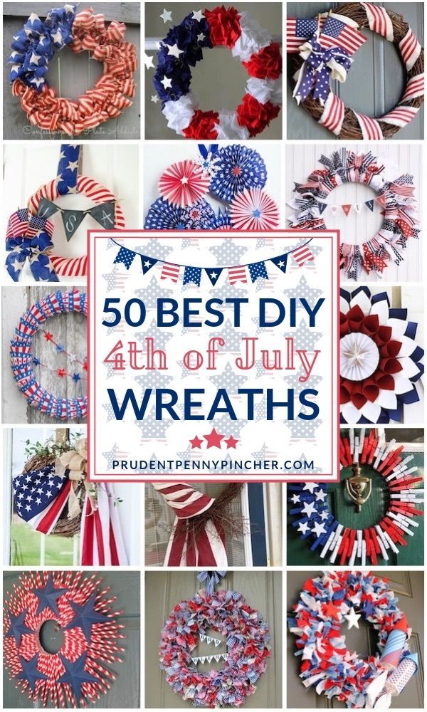 50 Best Diy 4th Of July Wreaths 4th Of July Wreath 4th Of July 4th Of July Decorations
