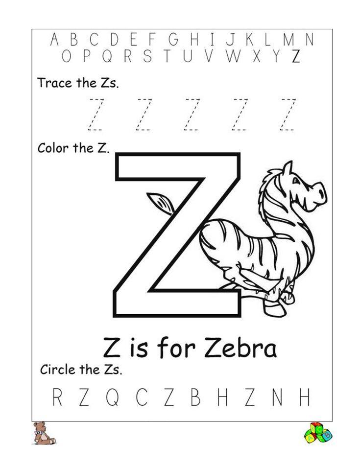 letter z worksheets printable preschool letters. Black Bedroom Furniture Sets. Home Design Ideas