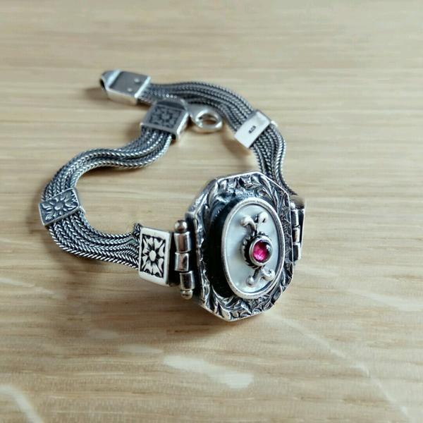 Enchantress Amber Silver Bracelet