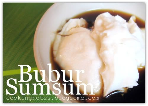 Bubur Sumsum (Indonesian Food)