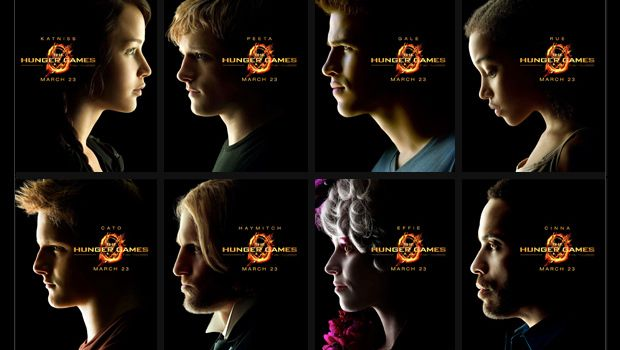 The Hunger Games characters.   Katniss. Peeta. Gale. Rue. Cato. Haymitch. Effie. Cinna.    CANNOT WAIT FOR THIS FILM!