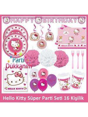 Hello Kitty Süper Parti Seti (16 Kişilik) Fiyatı