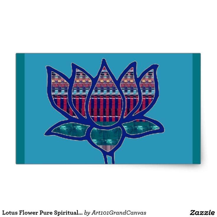 Lotus flower pure spiritual yoga meditation rectangular sticker lotus flower pure spiritual yoga meditation rectangular sticker 101 zazzle pro favorite stores pinterest mightylinksfo