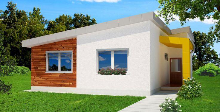3D pohlad bungalov moderny / modern little bungalow / projekt / house
