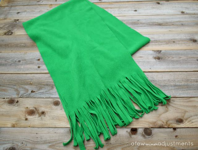 No sew Fleece Scarf that even the kids can make!