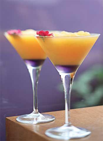 Brinde estiloso de tangerina e pêssego
