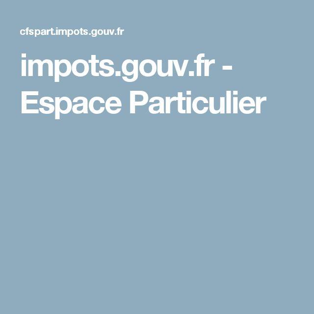 impots.gouv.fr - Espace Particulier