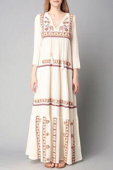 Ba&sh - Robe - Robe longue broderie ethnique Vianney