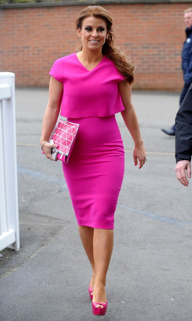 Coleen Rooney attends the Grand National Festival in Aintree, Liverpool, England - 3 April 2014
