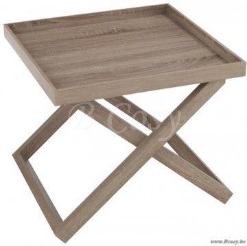 J-Line Kleine houten butlertray hout naturel 50
