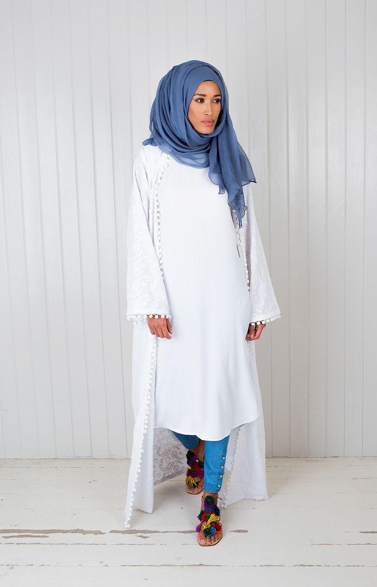Aab UK Kalyan Kimono - White : BOHO KIMONO AAB WHITE