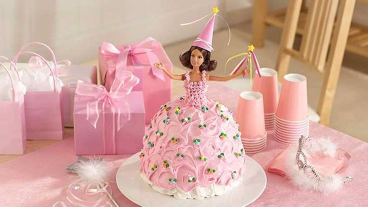 Delight your princess with a magical princess doll cake for her birthday party thats easier to make than you think!