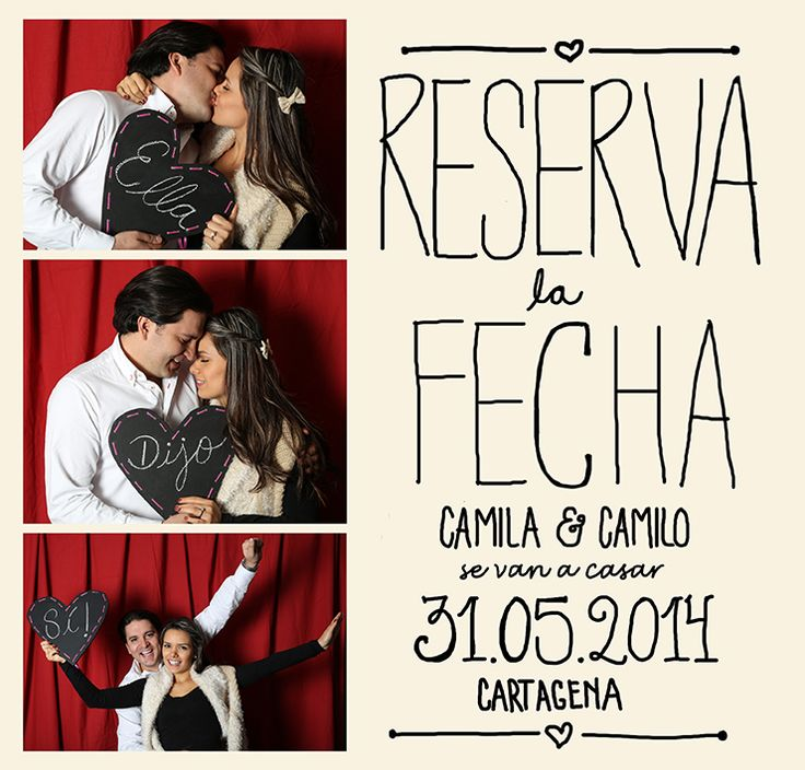 Nombres, fecha y lugar: los datos claves del Save the Date