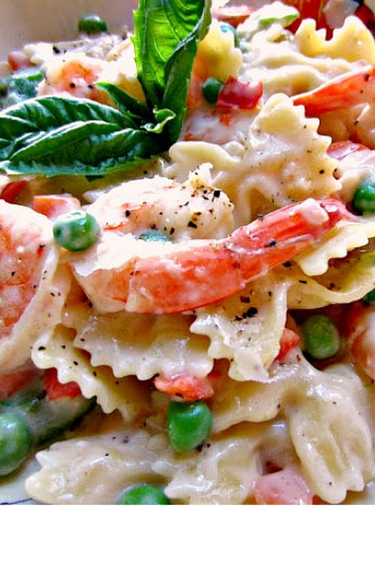 Quick and Easy Shrimp and Pasta Primavera   Renee's Kitchen Adventures:  A meatless dinner option ready in minutes!