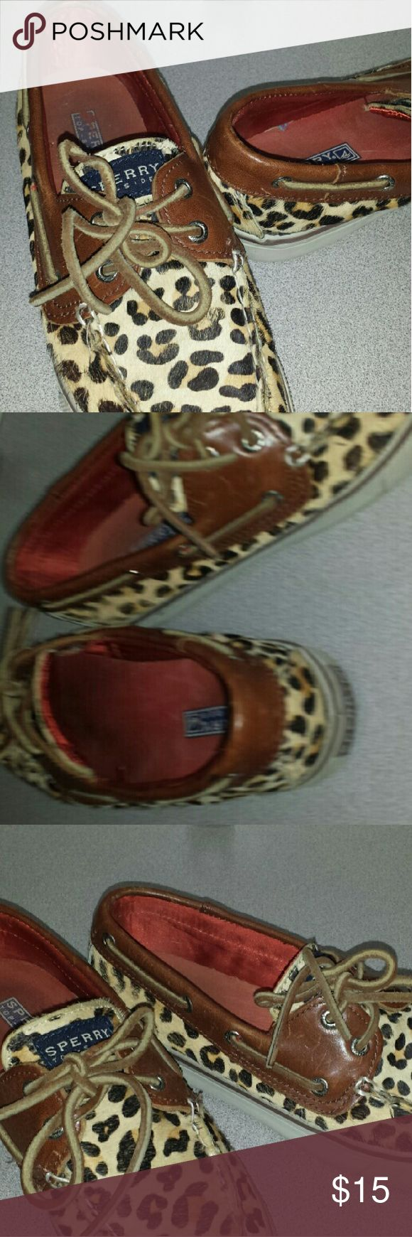Sperry shoes Leopard sperry size 6 gentle used but In very good condition. Sperry Top-Sider Shoes Sneakers