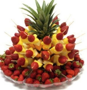 Cheese, pineapple and.... strawberries?