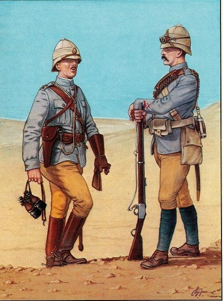 Camel Corps trooper and officer, 1880s