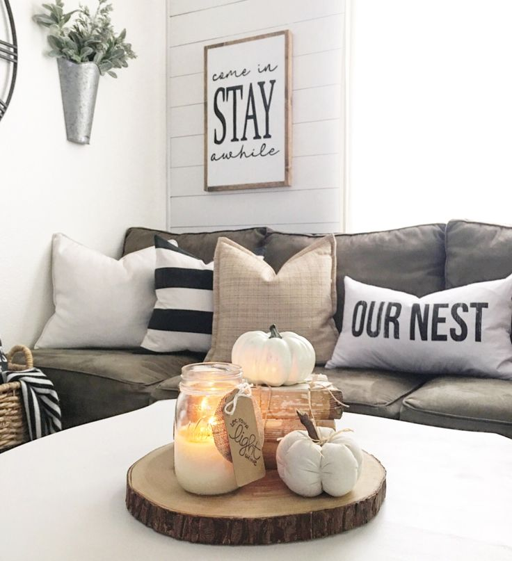 Neutral fall Decor -IG @nellyfriedel