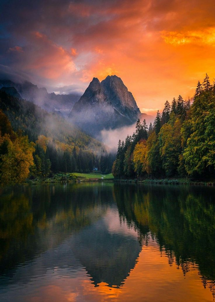 Evening light, Riessersee, Bavaria, Germany Photo by Nordhaug-photography From coiour-my-world.tumblr.com