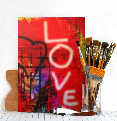 love heart graffiti streetart wall digital red letters Abstract