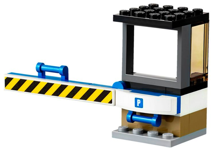 LEGO City CHECKPOINT gate for parking lot with WORKING gate split from 40170 NEW | eBay