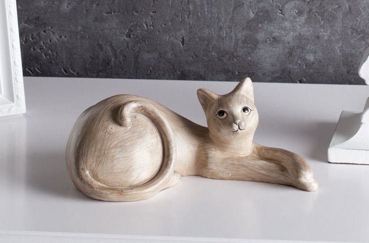 Dekoracja - figura Cat dł. 22cm, 22cm - Dekoria #dekoracje #decoration #dom #home #salon #idea #inspiration #inspiracje