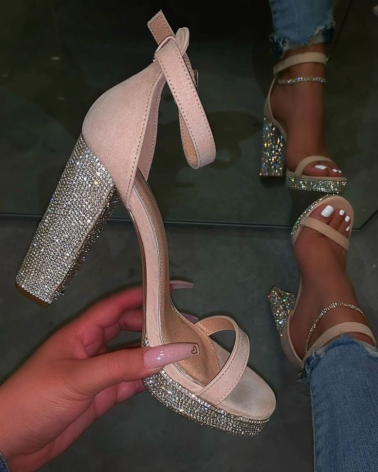 Pin by Versica on SHOES | Sparkly wedding shoes, Heels
