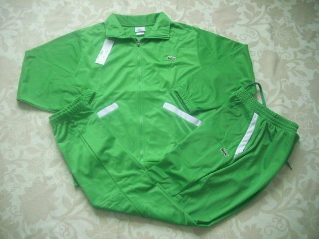 Chandal Lacoste Hombre AL78Sudaderas Lacoste Hombre Polo Cuello Manga Larga Verde Color Puro y Mas Asequible