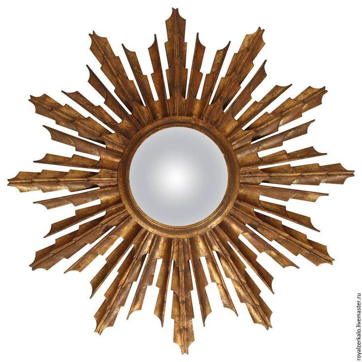 Купить Настенное зеркало солнце Антарес - зеркало настенное, зеркало солнце, зеркало ручной работы