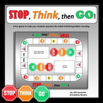 Stop, Think, then Go! ~a game for students struggling with impulse control. Especially helpful for children with Autism and ADHD.