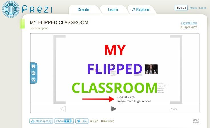 """My Flipped Classroom"" Prezi:  http://prezi.com/-vbtn0xnnyzx/my-flipped-classroom/"