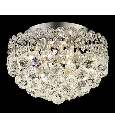 Palace Royal Empire 4 Light Flush Mount Crystal Chandelier Lighting