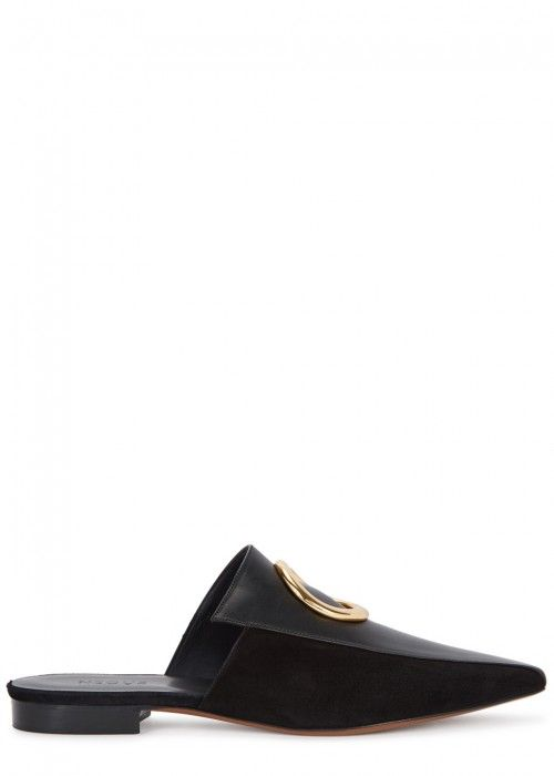 3e9589ac1ce NEOUS PHAIUS BLACK LEATHER MULES.  neous  shoes