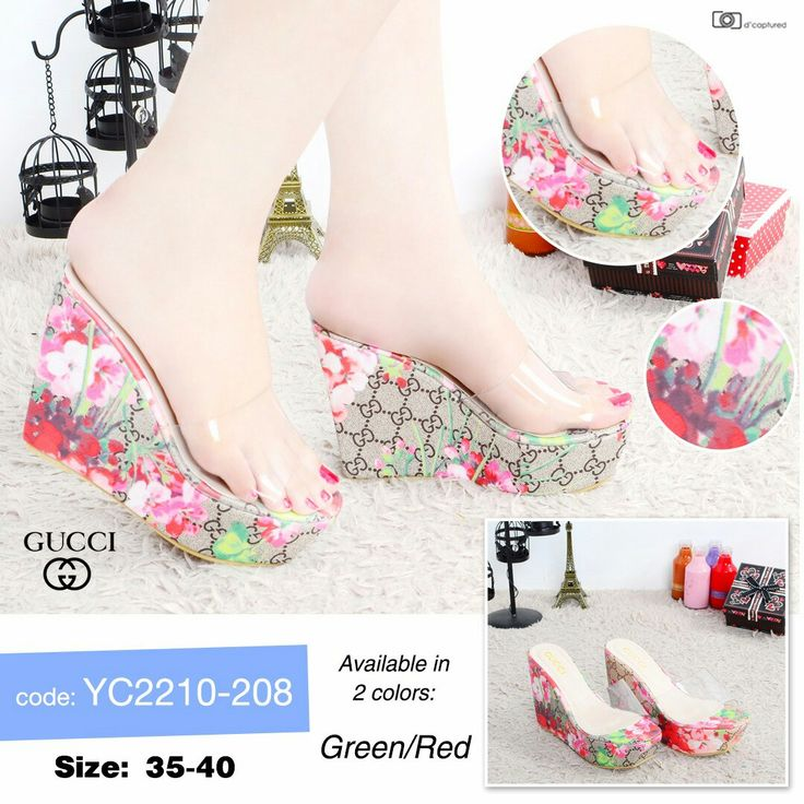 Gucci Flower Wedges YC2210-208 35-40 275rb