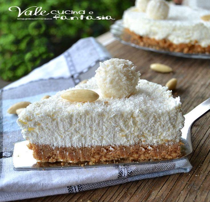 Cheesecake Raffaello ricetta dolce senza cottura   ♥