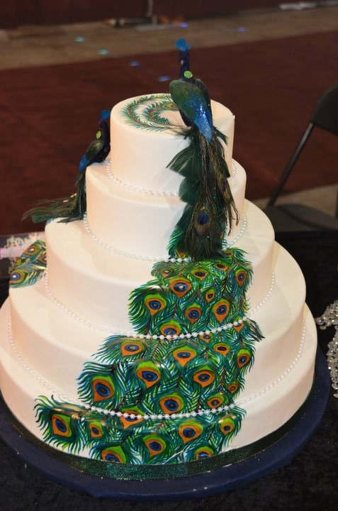 peacock wedding cake designs peacock birthday cake cakes peacocks 18159