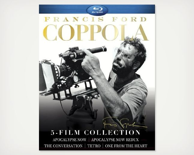 Francis Ford Coppola 5-Film Collection >> You cannot debate things like the influence of Francis Ford Coppola; you must just just accept it. Discuss as you see fit… so long as you understand he's one of the most influential directors we've seen in a while.  Includes: Apocalypse Now, Apocalypse Now Redux, One From The Heart, The Conversation, and Tetro.