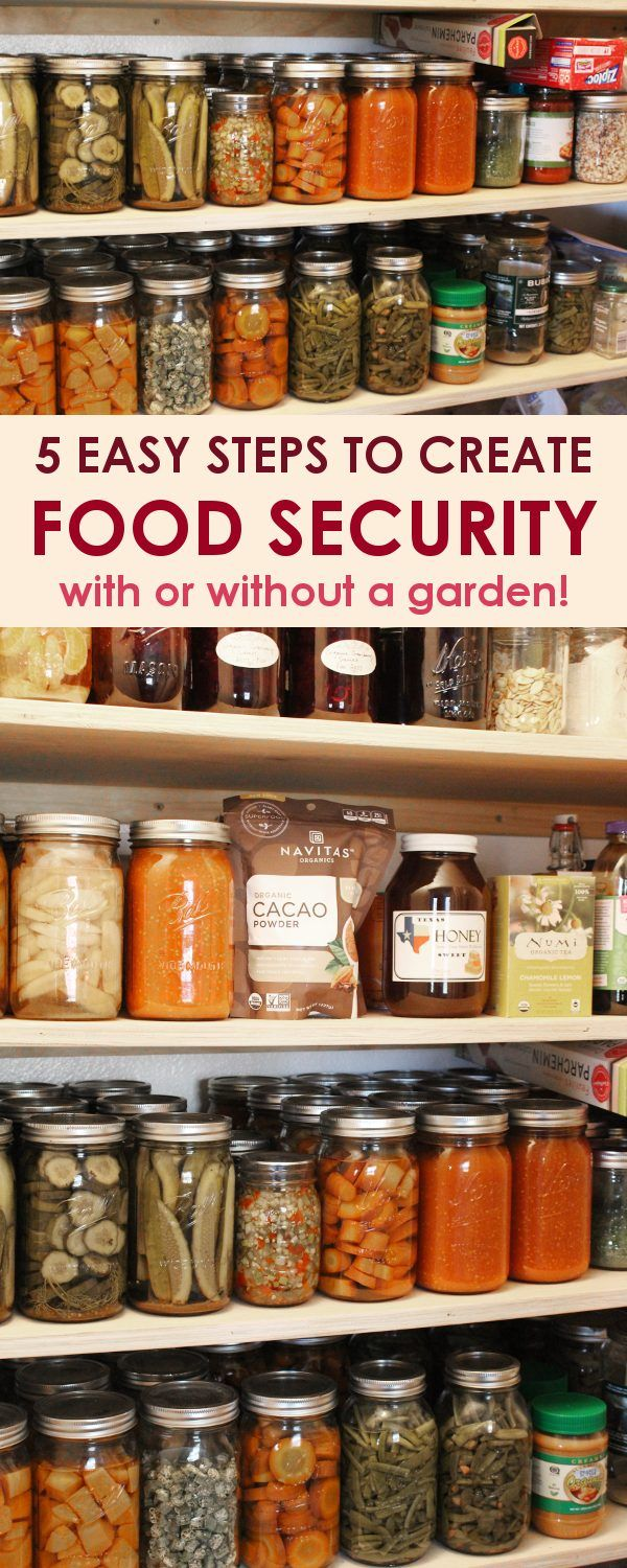 Food insecurity can occur to anyone at any time, whether due to a job loss or extreme weather conditions. Don't be caught without food for your family! Plan now and create a well stocked pantry to provide food security year round, with or without a garden.