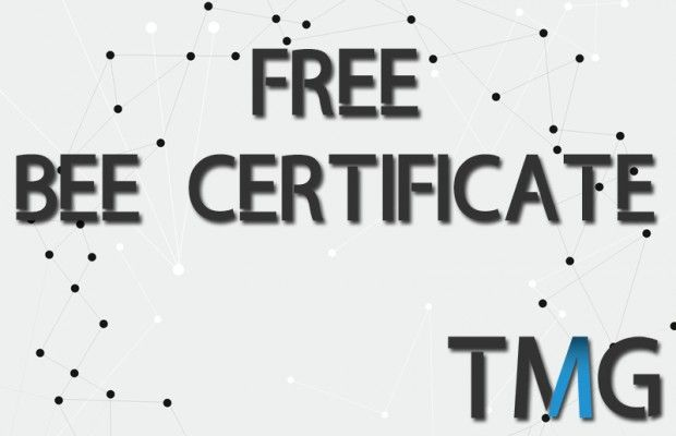 Your FREE BEE Certificate