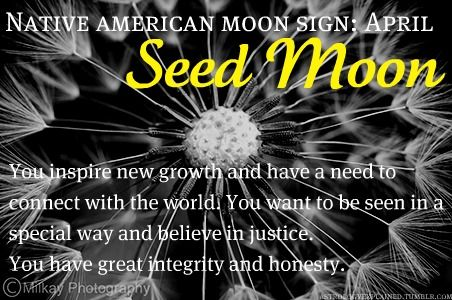 Native American Moon Sign: April Seed Moon