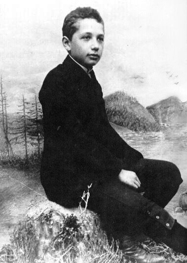 Young Albert Einstein at the age of 14.