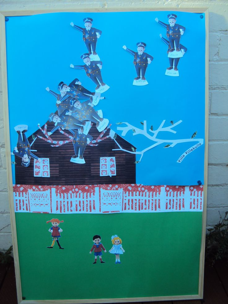 """Pin the Policeman on the Roof"" Pippi Longstocking party game"