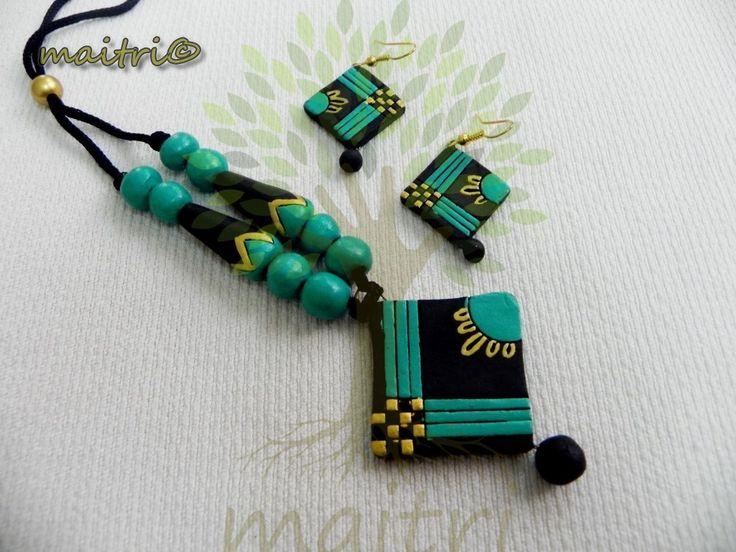 terracotta jewellery pendants - Google Search