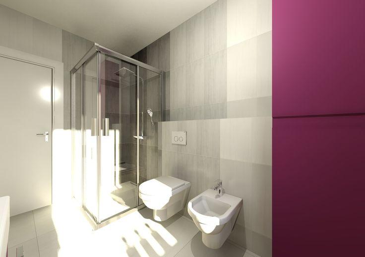 Modern bathroom in Domus3D Antares, tiles SAIME kaleido