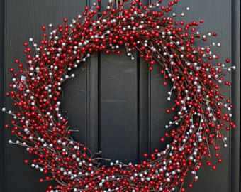 Red Berry Wreath Christmas Red Berry Wreath by twoinspireyou